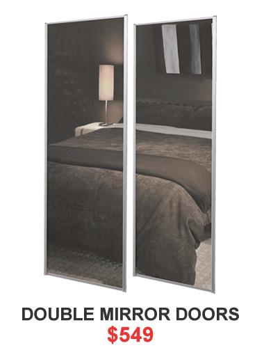 wardrobe organisers - sliding doors