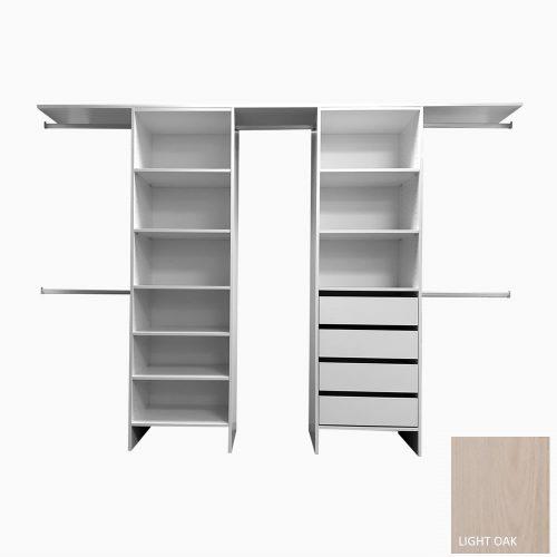 Chester-Series-Drawer-Shelf-Duo-Light-Oak
